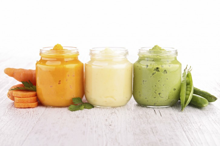 assortment of vegetable puree