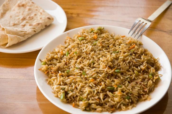 arroz biryani