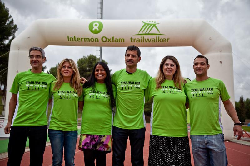 © Pablo Tosco/ Oxfam Intermón Presentación Trailwalker 2012 junto a María Vasco, corredora olímpica, Gervasio Deferr, Ariane Arpa, Directora General y otros embajadores del Trailwalker 2012 durante un entrenamiento.