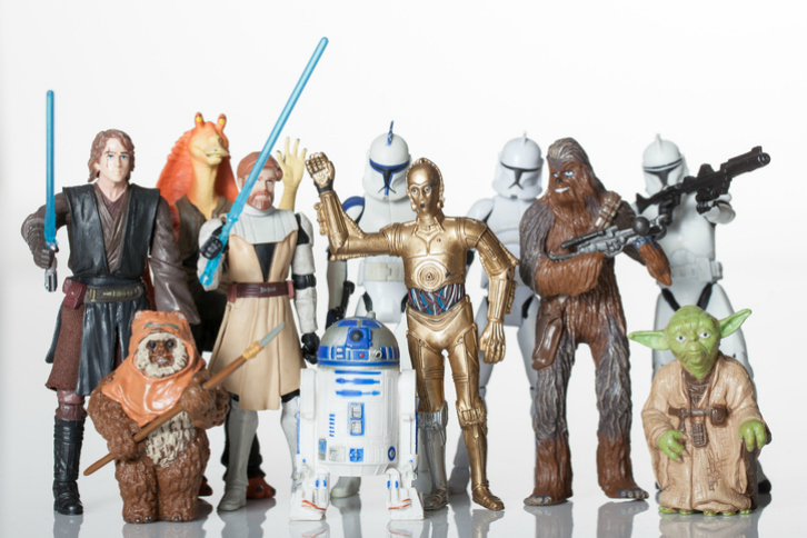 Florida, USA: June 2, 2015- Star Wars republic figurines