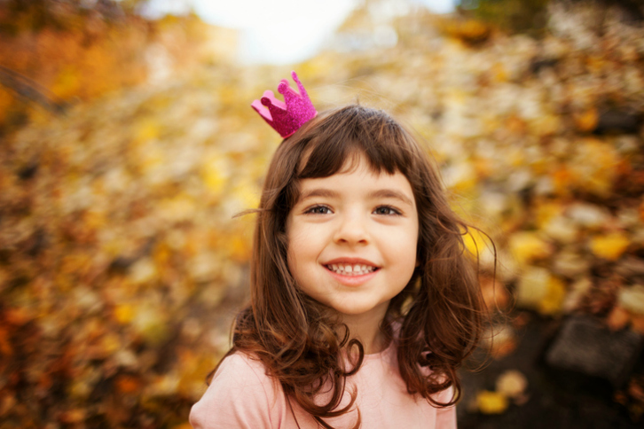 Image of beautiful little girl, shallow depth of field