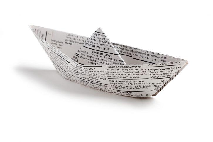 manualidades con papel de periódico