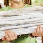 4 manualidades con papel de periódico