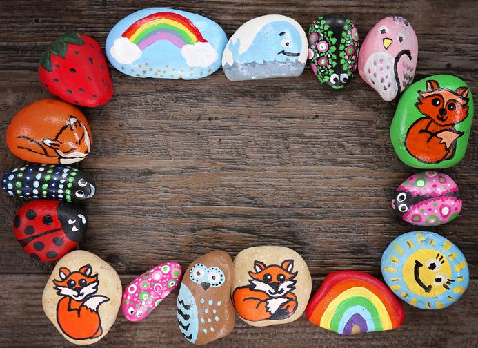piedras pintadas - animalitos